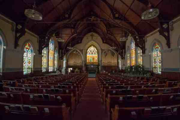 Inside the Zion Reformed United Church of Christ in Allentown, Pennsylvania