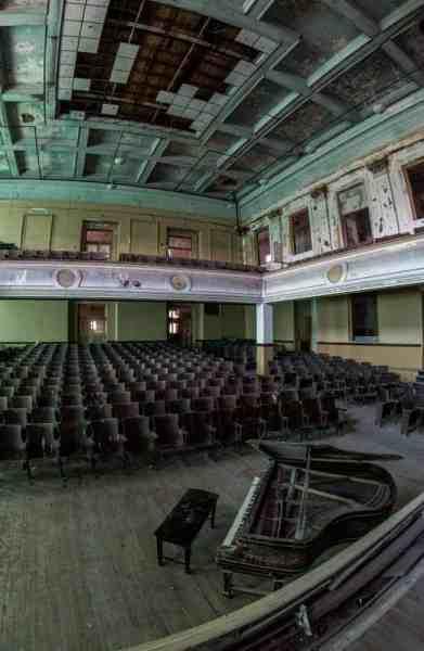 Auditorium at J.W. Cooper School in Schuylkill County, Pennsylvania