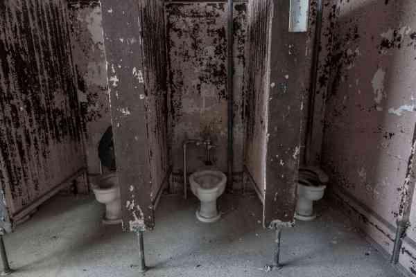 Bathrooms at J.W. Cooper School in Shenandoah, PA