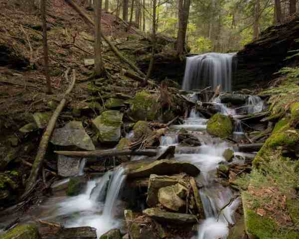 Rattlesnake Falls along the Mid State Trail in Pennsylvania