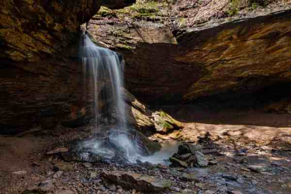 Hiking to Frankfort Mineral Springs Falls in Beaver County, Pennsylvania.