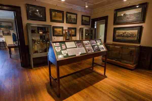 Visiting the Lackawanna Historical Society Museum in Scranton, Pennsylvania.
