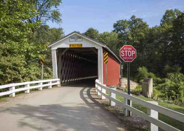 Thomas Ford Covered Bridge in Indiana County, Pennsylvania