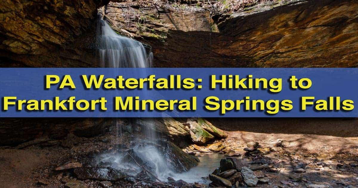 Hiking to Frankfort Mineral Springs Falls in Raccoon Creek State Park