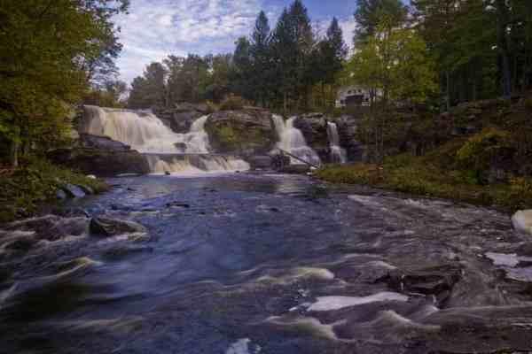 Waterfalls in the Poconos: Resica Falls on Bushkill Creek