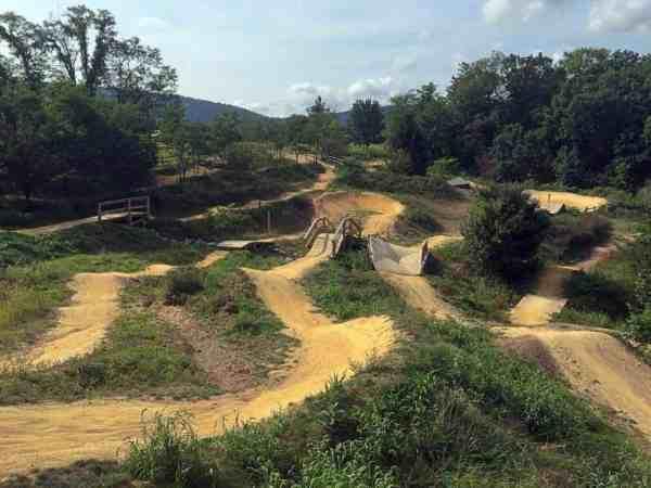 Raystown Mountain Biking Skills Park at the Allegrippis Trails at Raystown Lake, Pennsylvania