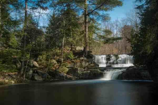 How to get to Choke Creek Falls in Lackawanna County, Pennsylvania
