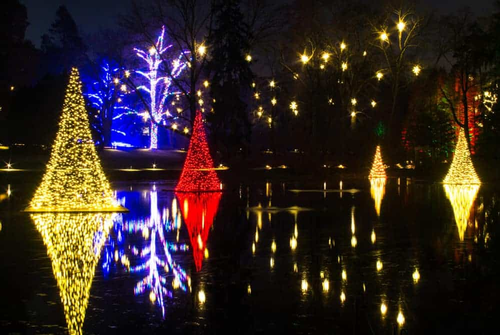 holiday display at longwood gardens in chester county pennsylvania