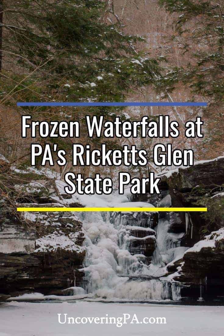 Winter hiking to see the frozen waterfalls at Ricketts Glen State Park in Pennsylvania