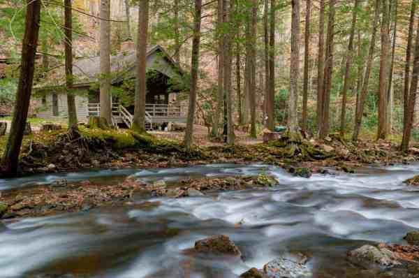 Cabin in Linn Run State Park, Pennsylvania