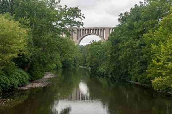 Tunkhannock Viaduct passing over Tunkhannock Creek in Nicholson, PA