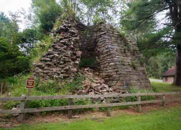 Paradise Furnace in Trough Creek State Park in Huntingdon County, PA