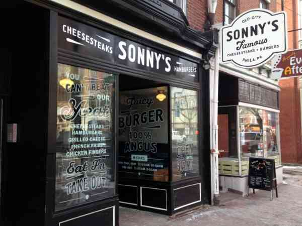 Exterior of Sonny's Famous Cheesesteaks in Philly