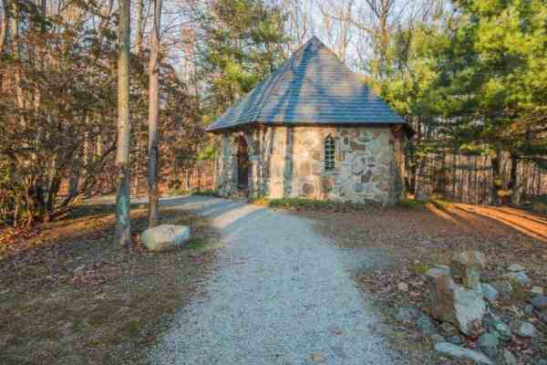 Saint Columba Chapel at Columcille Megalith Park in Bangor, PA