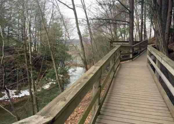 Hiking in Sweet Arrow Lake Park in Pine Grove, Pennsylvania