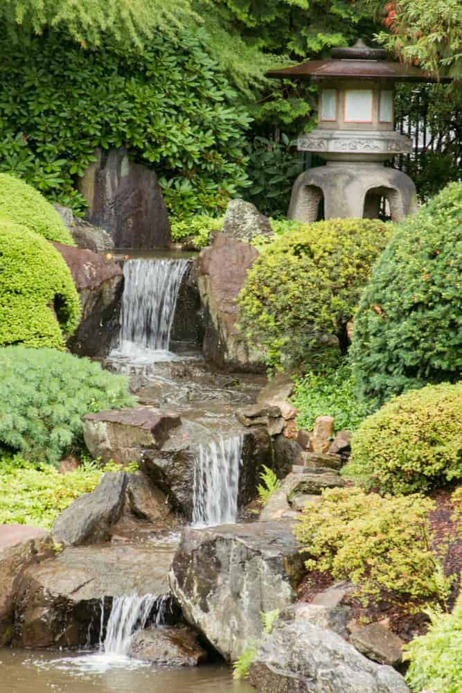 Waterfall At Shofuso Gardens In Fairmount Park