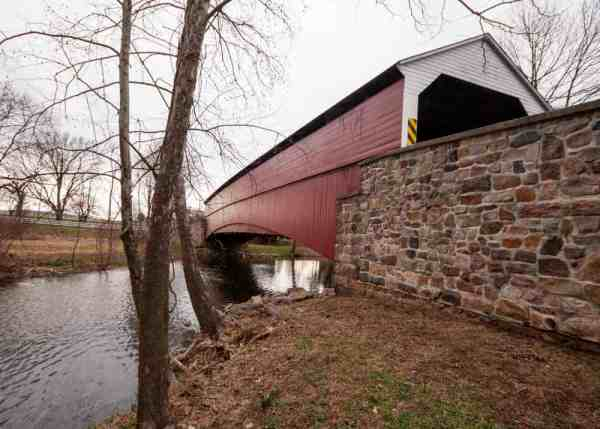How to get to Pleasantville Covered Bridge in Berks County, PA
