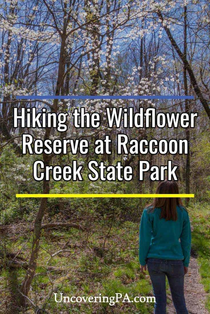 Hiking the Wildlife Reserve in Raccoon Creek State Park near Pittsburgh, Pennsylvania