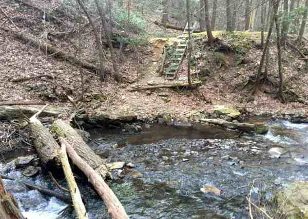Ladder on the Jarrett Trail in McConnellsburg, Pennsylvania