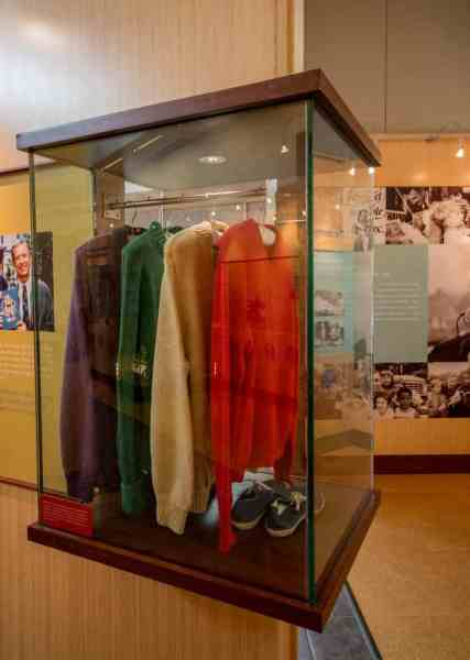 Mister Rogers' sweaters at Saint Vincent College in Latrobe, PA