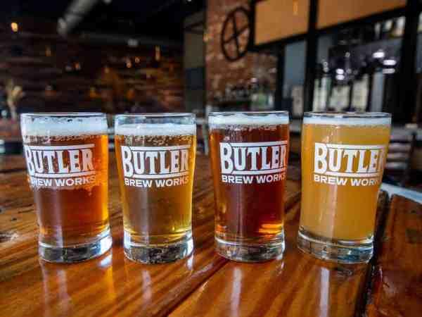 Flight at Butler Brew Works in Butler, Pennsylvania