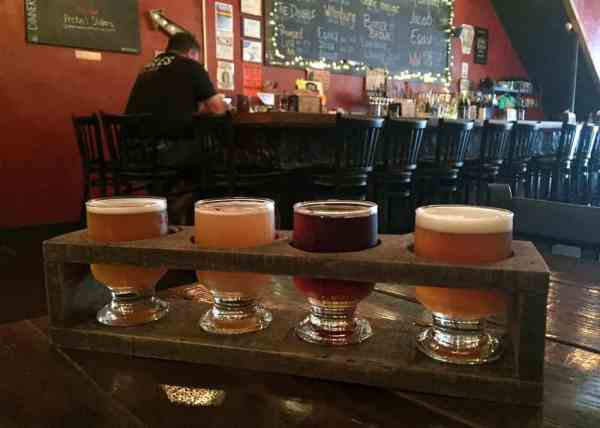 Beer flight at Reclamation Brewing Co. in Downtown Butler, PA