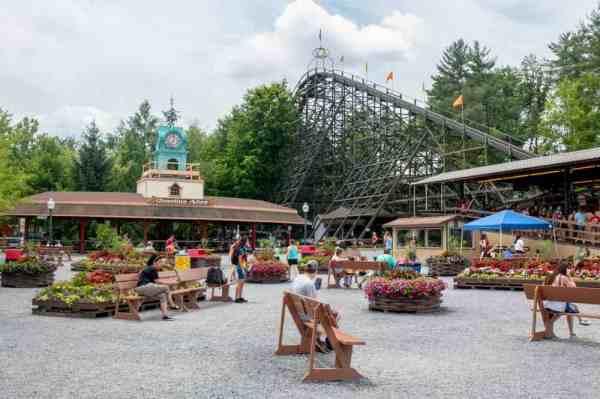 Phoenix Roller coaster at Knoebels Amusement Resort
