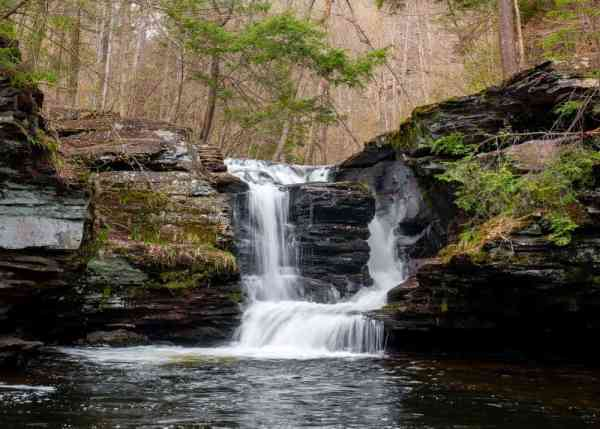 Camping at Ricketts Glen State Park to see its waterfalls