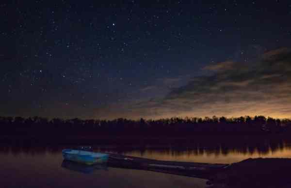 Nighttime sky at Ricketts Glen State Park