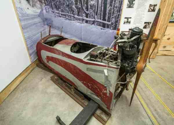 Antique snowmobile in Laporte, PA