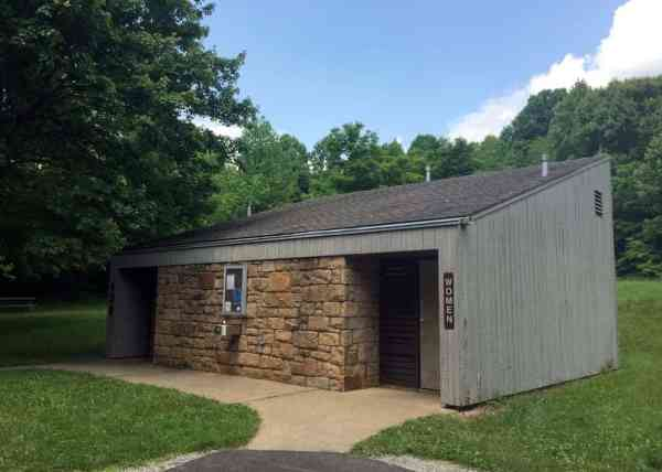 Bath houses at the campground at Ohiopyle State Park