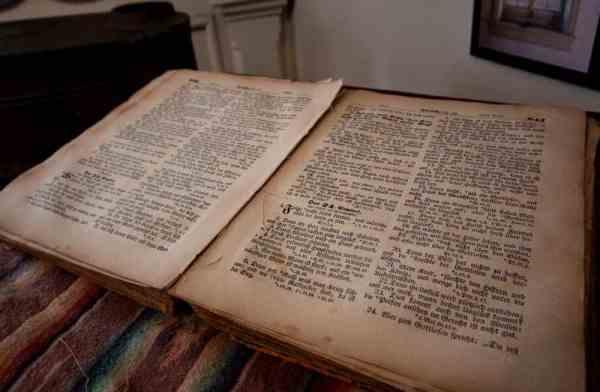 Johann Georg Rapp's Bible at the Harmony Museum