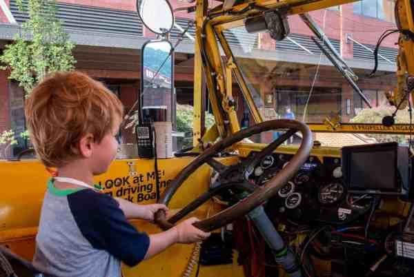 Driving the duck boat in Pittsburgh, Pennsylvania