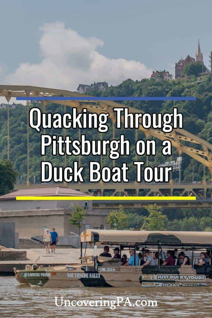 Quacking through a Just Ducky Tours in Pittsburgh, Pennsylvania