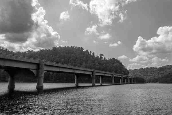 Bridge over the Youghiogheny River Lake in Pennsylvania
