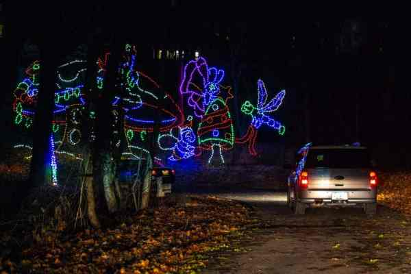 Driving through the forest at Hershey Sweet LIghts.