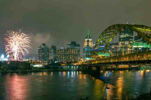 Light Up Night Fireworks in Pittsburgh