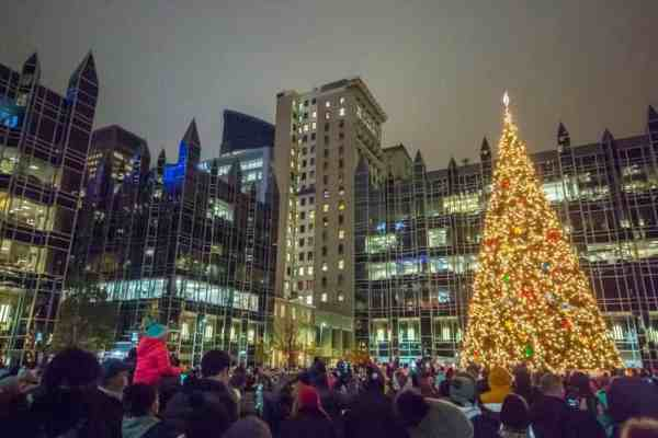 PPG Place Tree Lighting on Light Up Night in Pittsburgh, PA