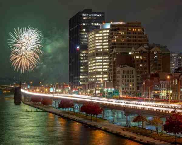 Santa Spectacular fireworks on Pittsburgh's Light Up Night