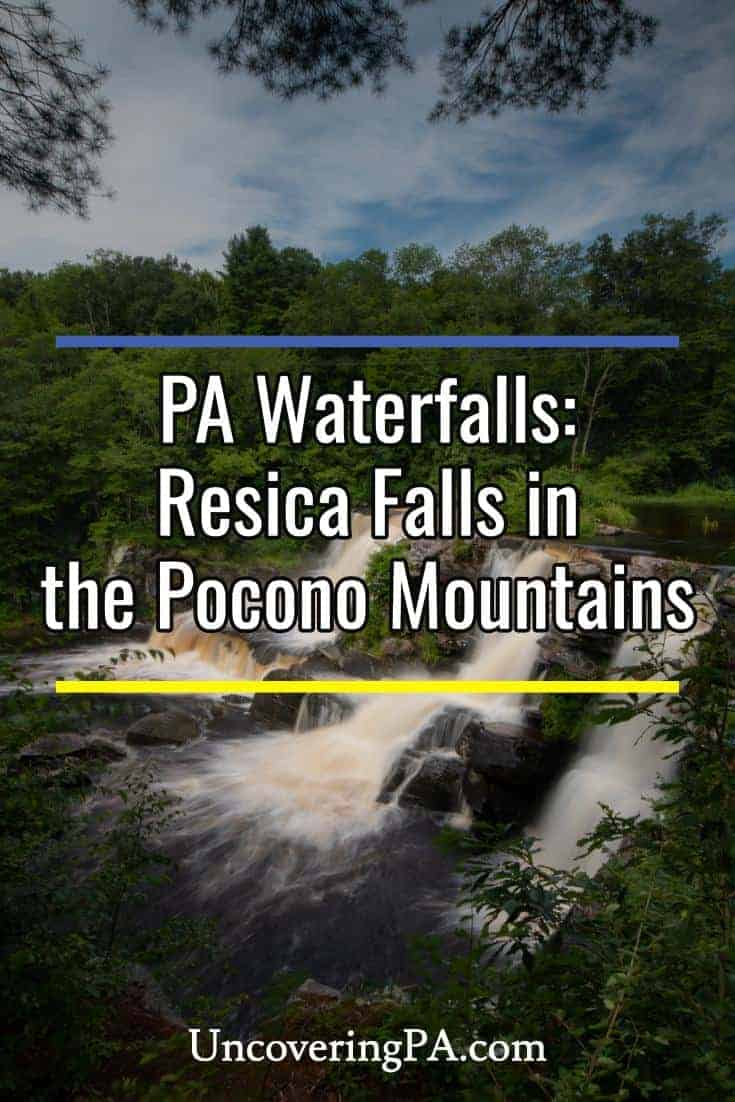 How to get to Resica Falls in the Pocono Mountains of Pennsylvania #pa #poconos #waterfall