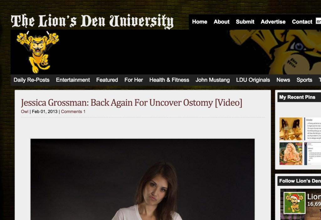 Uncover Ostomy LionsDen 02-01-2013