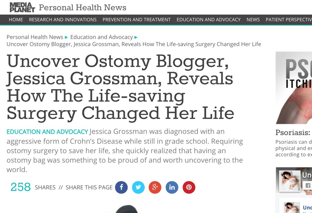 Uncover Ostomy MediaPlanet Personal Health News 04-02-2015