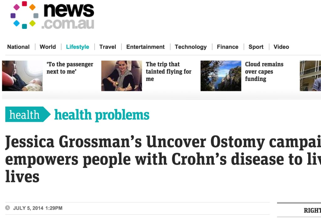 Uncover Ostomy News Dot Com AU-07-05-2014