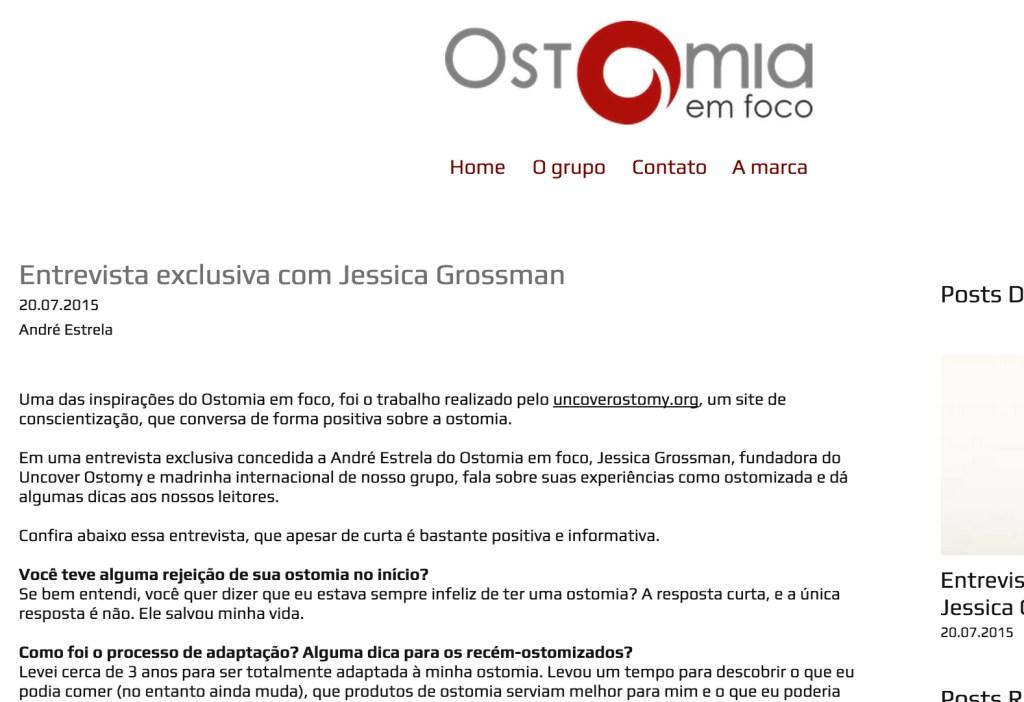 Uncover Ostomy Ostomia Em Foco 07-20-2015