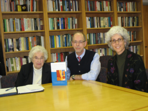 Gerda Lerner, Ron Maner, and Kate Torrey, at UNC Press, 2009