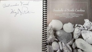 Signed copy of Seashells of North Carolina