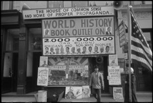 Lewis Michaux's National Memorial African Bookstore in Harlem, 1961
