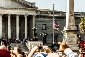 Removal of Confederate flag at South Carolina state house, July 10, 2015. Photograph courtesy of John Allen.