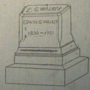 Walker's Original Gravestone