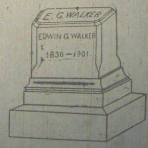 Walker's Original Gravestone